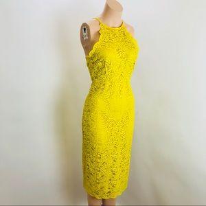 Zara Woman Yellow Lace Dress